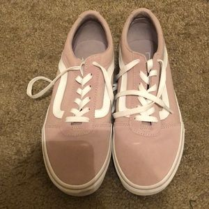 Pink Vans women's size 9.5 LIKE NEW